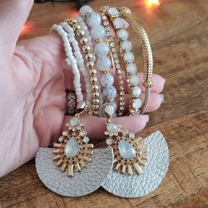 8 bracelets and earrings set